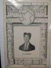 Vintage R.G. Herrmann Issue THE MAGIC WORLD PERIODICAL