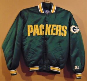 GREEN BAY PACKERS GREEN SNAP FRONT STARTER NFL JACKET