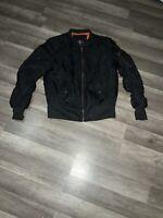 Men's Black Bomber Jacket SZ M