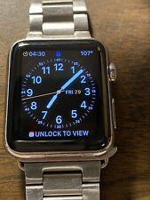 Apple Watch Stainless Steel 42mm Series 1 Orig Box's Everything WORKS looks nice