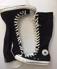 Mens 6 Womens 8 Converse Chuck Taylor Shoes Black Knee High Tall Unisex Lace Ups