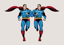 Old Cartoon. Barack Obama Superman - War, Peace