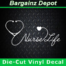 Vinyl Decal.. NURSE LIFE.. Nursing Medical Heart Stethoscope Car Laptop Sticker