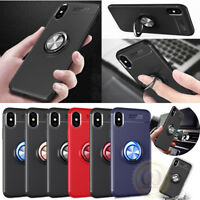 For iPhone X XR XS Max Case Slim Flexible Shockproof TPU Cover with Ring Holder