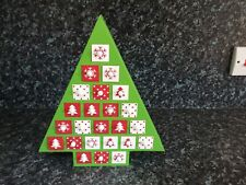 Wooden Christmas Tree Design Pull-out Drawer Advent Calendar