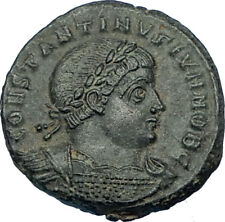 CONSTANTINE II Jr Genuine 330AD Authentic Ancient Roman Coin SOLDIERS i65856