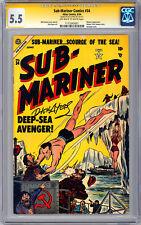 SUB-MARINER #34 CGC-SS 5.5 GA CLASSIC *SIGNED ORIG COVER ARTIST DICK AYERS* 1954