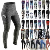 Women's Yoga Pants Ladies Fitness Leggings Gym Running Sports Workout Trousers