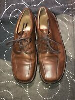 Clarks Mens Leather Lace Up Casual Shoes Oxfords Size 9 M Brown