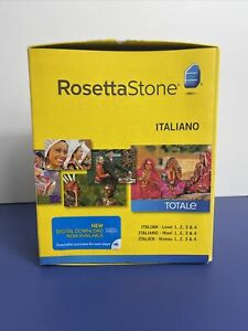 Rosetta Stone LEARN ITALIAN Levels 1-4  - V4  SOFTWARE  - MSRP $249.00US