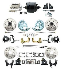 """GM 1964-72 A Body 4 Wheel Disc Kit,  8"""" Dual pc Booster Conversion Kit, Bm"""