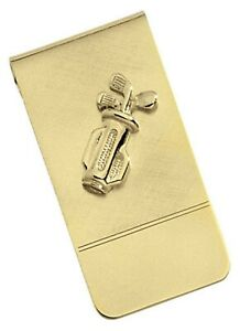 Colibri Men's golfers gold plated money clip