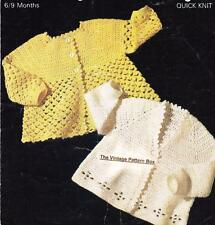QUICK BABY MATINEE COATS - 6 to 9 months / 8ply or DK - COPY crochet pattern