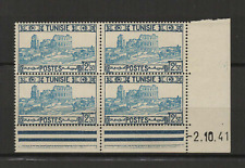 Tunisie Y&T N° 236 4 timbres neufs coin daté 2.10.41 /T3517