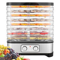 8 Layers 400W Stainless Steel Food Dehydrator Fruit Vegetable Dryer Machine NEW