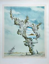 Hans-Peter Wirsing, Zink-Lithografie, »Gute Aussichten auf Saba, 1980, signiert