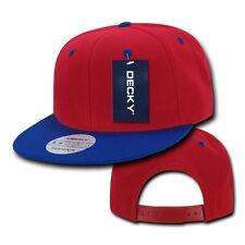 Red / Blue Vintage Flat Snapback Snap back Baseball Cap Caps Hat Hats 50 COLORS