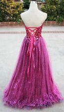 NWT VIENNA $498 Fuchsia Formal Prom Evening Ball Gown 0