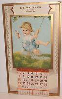 Plainfield Wisconsin ARTIST CHARLOTTE BECKER BABY FISHING 1939 Calendar art