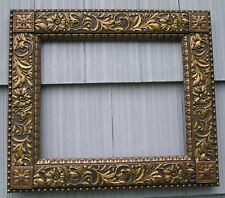 Stunning Antique Aesthetic Victorian Bead Edge Very Ornate Picture Frame 14 x 17