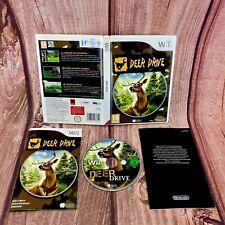 Nintendo Wii Deer Drive Hunter Game uk pal version Very Rare Game Complete Too
