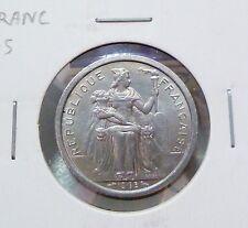B109 - French Polynesie 1 Franc coin 1965 - UNC