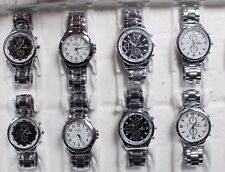 MONTRES HOMME A QUARTZ BRACELET METAL LOT DE 8 DESTOCKAGE