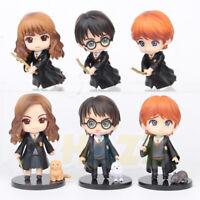 """6pcs/set Harry Potter Hermione Ron PVC Figure Model Toy 4"""""""
