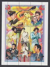 Chad Sc 711A MNH. 1997 Elvis Presley, se-tenant sheet of 9, complete set, VF.