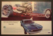 1969 Ford Mustang Boss 429 V8 Mustang Nhra Cobra Jet Caroriginalad Print 1970