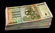 30 x Zimbabwe 20 Billion Dollar banknotes- paper money currency