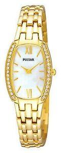 Pulsar Ladies Gold Plated Bracelet Watch PTA494X1 PNP