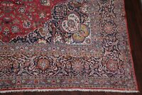 Antique Dabir Floral Area Rug Vegetable Dye Oriental Hand-made RED 11x17