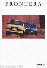 Opel Frontera Prospekt 10/95 brochure Autoprospekt Auto Pkw Geländewagen 1995