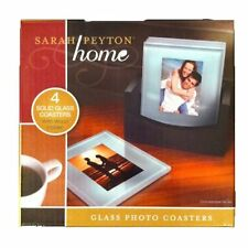 NEW SARAH PEYTON HOME GLASS PHOTO COASTERS 1615661