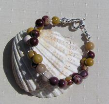 "Mookaite Jasper Crystal Gemstone Beaded Bracelet ""Mara"""