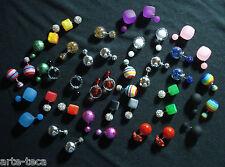 stock 50 orecchini misti micro doppia perla tanti modelli bigiotteria rivendi