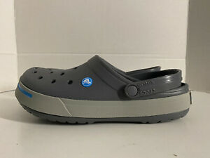 NEW UNISEX Crocs Crocband II Clogs Shoes : Size 5 MENS / Size 7 WOMENS Gray
