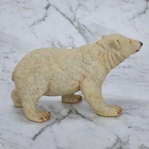 Country Artists Hand Paint Large Polar Bear Standing Figurine Sculpture 03262