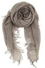 Chan Luu Soft Cashmere and Silk Scarf Wrap Solid CINDER Taupe BRH-SC-140