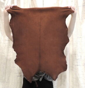WHISKEY BUCKSKIN Leather Hide for Native Crafts Taxidermy Bags Laces Flute Bags