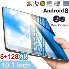 10.1 inch Tablet PC 8+128GB Android 8.0 HD Pad 2.5D Screen Wifi 4G-LTE Dual SIM