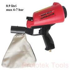 pistola per sabbiatrice con contenitore aspirazione e raccolta da 0.9 litri