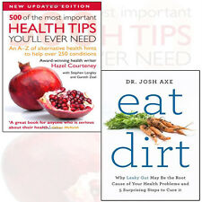 Eat Dirt 2 Books Collection Set (500 of the Most Important Health Tips) New Pack