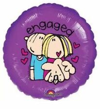 """Engaged Bang on the Door Engagment Party Anagram Balloon 18"""""""