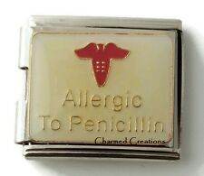 Allergic To Penicillin Allergy Medical Alert 9mm Italian Charm 18mm Mega Link