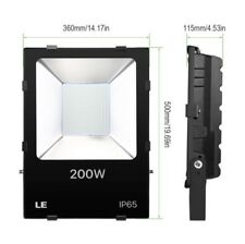 NEW Black High Power 200W Outdoor Security LED Flood Lights