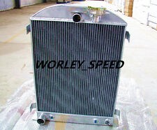 Aluminum Radiator For FORD Chopped-Ford Engine 1932 3Core AT/MT