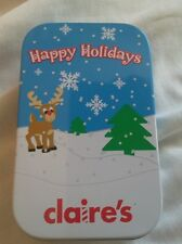 Claire's christmas earings, 4  sets in gift tin. Bnip