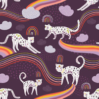 Cotton Fabric Rainbow Jaguar - Kushukuru Art Gallery Fabrics Quilters Cotton